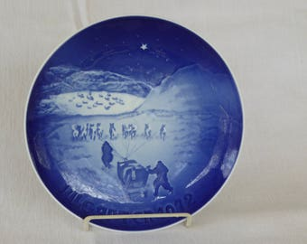 Vintage Porcelain Bing & Grondahl 1972 Christmas Plate
