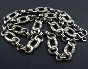Vintage Art Deco Silver Necklace