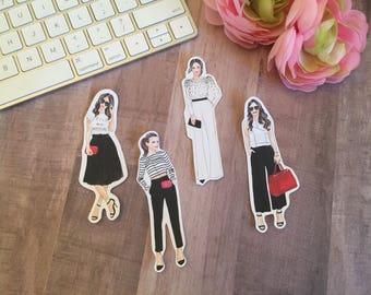 Fashion Girl Die Cuts I  ~ Stickers ~ Planner Die Cuts ~ Travelers Notebook Die Cuts ~ Planner Decor ~ TN Decor
