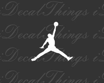 AIR JORDAN Decal ⋆ Basketball NBA Sports Michael Jordan Jumpman Logo ⋆ Vinyl Sticker