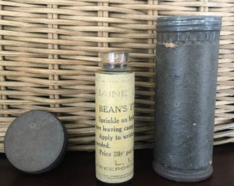 "Scarce LL Bean "" Maine Fly Dope"" Old Cork Top Glass Bottle of Famous Insect Repellent"