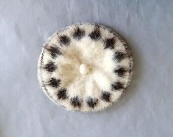 Vintage wool beret/ handmade wool beret/handmade hat