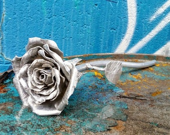 Hand Crafted Metal Rose - A Rose That Lasts Forever!