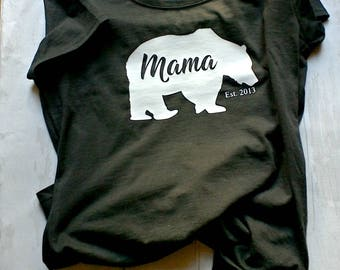 Mama bear T-Shirt, mummy gift, mum t-shirt, mama bear, mom t-shirt, mum trend