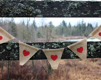 Rustic Hearts Banner//Free Shipping