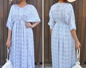 Kaftan, Caftan, Maxi Summer Dress, Maternity Dress, Nursing Dress, Resort Wear, Ethnic Pattern, Gift For Her