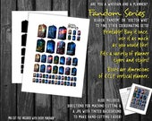 TARDIS Galaxy  Sample Doctor Who Printable Planner Stickers | Fandom | Whovian, Time Lord The Doctor | Nerd Geek Planning | rainbow