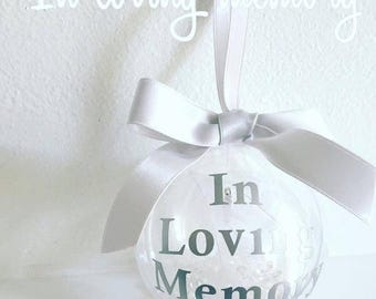 Personalised In Loving Memory Christmas Bauble DIY Vinyl Decal Sticker