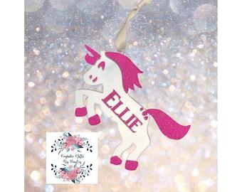 Girgeous soarkly unicorn tree decoration unicorn ornament unicorn gift personalised gift unicorn bauble