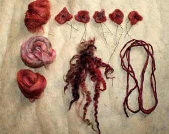 Curl set for type yarn - flowers - silk-