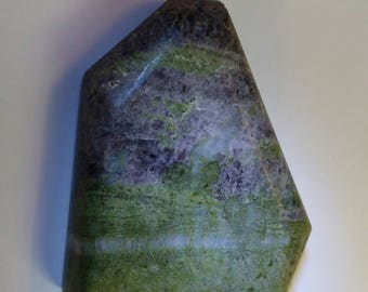 Epidote with Axenite Cabochon