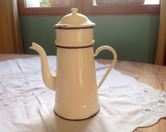 Vintage French Enamelware coffee pot