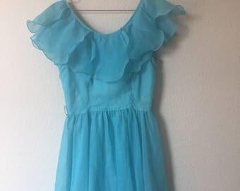Gorgeous vintage blue dress