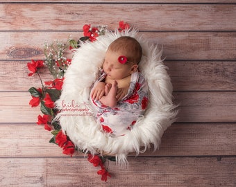 Newborn Wrap Headband Set, Lace Stretch Wrap Uk Seller