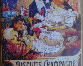 Wooden, 436 pieces puzzle, Mucha cookies read; wooden jigsaw puzzle