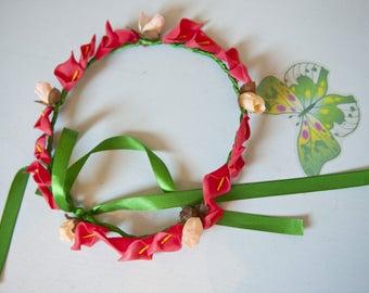Wreath on satin ribbon