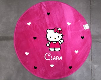 Rug pink Hello kitty personalized