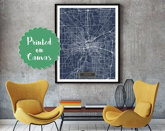 DAYTON Ohio City Map Dayton Ohio Art Print Dayton Ohio poster Dayton Ohio map art United States of America Poster Dayton Ohio Jack Travel