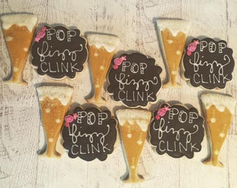 Pop, Fizz, Clink Celebration Cookies
