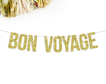 Bon Voyage Banner | going away party | moving party | relocating party | party decor | cruise party | career change | party banner