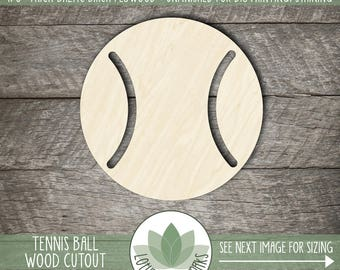 Tennis Ball Wood Shape, Wooden Laser Cut Tennis Ball, Unfinished For DIY Projects, Many Size Options, Wood Tennis Ball, Tennis Party Favor