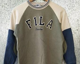 FILA sweatshirt big Logo spell out jumper