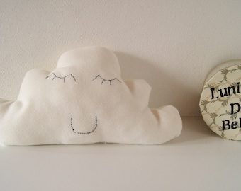 """AVAILABLE * """"happiness"""" white cloud pillow"""