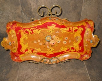 Beautiful Hand Painted Serving Tray