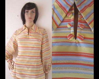 Vintage 70s blouse blouse Sanchez collar Lurexbluse hippie S