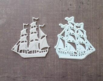 Die cut Joy Crafts boat sailboat sea
