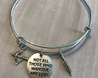 Lord of the Rings inspired Bangle Bracelet
