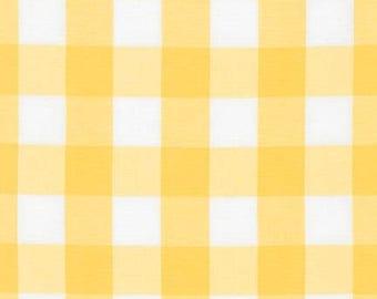 Carolina Gingham 1 in Sunflower P9811125 Robert Kaufman Fabrics Handmade Dress Quilt Clothing Nursery Large Buffalo Yellow Plaid Sunshine