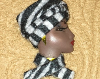 Serena,African American LADY FACE PINS