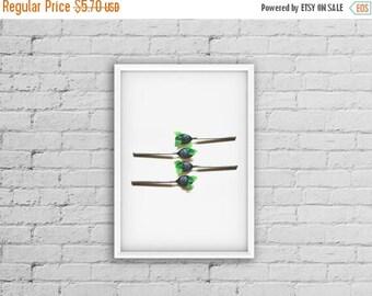 SALE Spoon Printable Wall Art, Silverware Art, Spoon Art, Green and Blue Home Decore, Blue Digital Art Print, Turquoise Wall Decor Living Ro