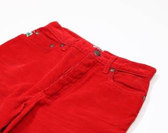 Moschino - Corduroy red pants