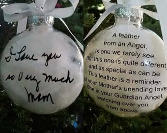 Memorial ornament / Christmas Gift / Mom Dad Grandmother Grandpa / Watching over you from Above / Guardian Angel