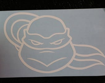 Teenage Mutant Ninja Turtle Mad Face Decal Any Size Any Colors