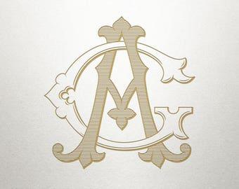 Classic Letters Monogram - AG GA - Classic Letters - Digital