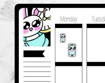 iPhone — Hand Drawn Kawaii Planner Stickers