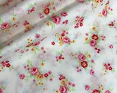 White Floral Bouquet Cotton Fabric from the Flower Sugar Wind Spring 2017 Collection by Lecien Fabrics