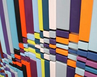 Large Wall Art | Wood Wall Art | 'Fragment Break' | Sculpture | Abstract Art | Wall Art |