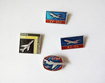 Soviet pin badge Gift for collectors Soviet aviation Soviet Union planes USSR aviation Memorabilia Soviet airplanes Aircraft collection