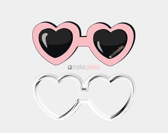 Heart Shaped Sunglasses Cookie Cutter