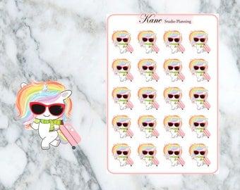 Travel Unicorn Planner Stickers