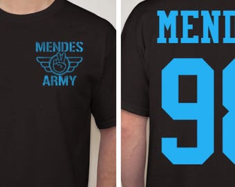 Shawn Mendes 'Mendes Army' jersey shirt