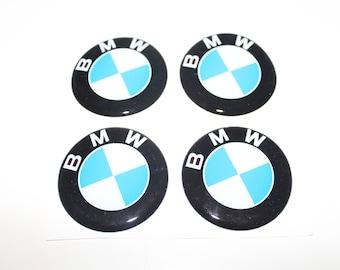 """ON SALE! 4pcs. set 55 mm.""""BMW"""" Centre wheel stickers,emblems,badges"""