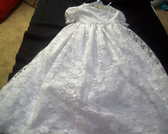 Christening Gown Lace beautiful handmade heriloom quality infant baby gown