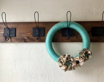 Farmhouse Coat Rack - Coat Hanger - Wall Mount - Farmhouse Decor - Rustic Decor