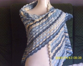 Shawl is hand crocheted for adult