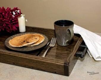 Wooden Serving Tray, Oak Serving Tray, Breakfast Tray, Appetizer Tray, Ottoman Tray, Tea Tray, Dessert Tray, Large Wooden Tray, Hostess Tray